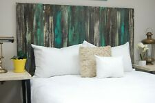 Industrial Mix Headboard, Hanger Style, Handcrafted. Mounts on Wall.