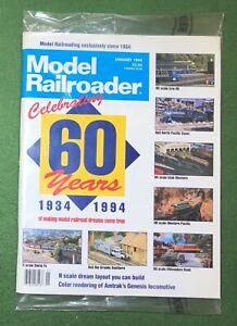 Model Railroader Jan 1994 vintage hobby mag train HO track Locomotive SEALED