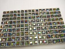 24 vintage swarovski crystal cube shape beads,6mm vitrail medium #5601