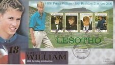 LESOTHO 6 JULY 2000 PRINCE WILLIAM 18th BIRTHDAY M/S BENHAM LE FIRST DAY COVER