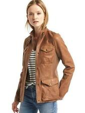 Leather Solid Regular Size XL Coats & Jackets for Women