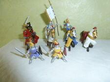 Figurine PLASTOY Lot 3 Cavaliers 1 cheval 2 Chevaliers