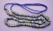 Ancient Romano Egyptian stone carved lapis lazuli necklace