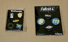 Bethesda Pin Set Doom Fallout 4 The Elder Scrolls Dishonored Battlecry + Button