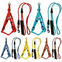 Max Care Medium Adjustable Dog Rope Lead Safety Harness Puppy Pup Leash Collar