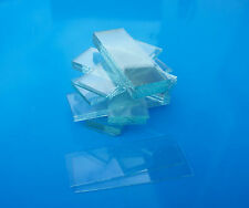 GLASS MICROSCOPE SLIDES - approx 50 new clear UNGROUND edged, unboxed slides