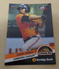RARE 2017/18 ABL Bendigo Bank JEREMY BARNES - Canberra Cavalry - Aussie Baseball