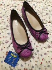 Sonoma Life & Style sz 2 M ballet flats shoes - Pink Snake-skin Pattern - Kids