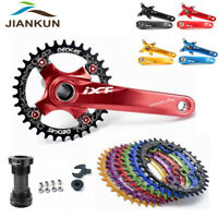Aluminum 170mm Crankset 104bcd MTB Bike Crank Set + Chainring + BB 32 34 36 38t