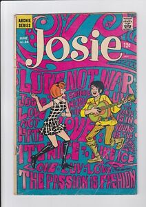 Josie #34, June 1968, Archie Comics, Classic Psychedelic Cover