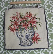 BEAUTIFUL FLORAL NEEDLEPOINTPILLOW SQUARE LARGE Pillowcover 18 x 18