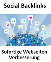 100 Social Backlinks + Sofortiger Effekt + SEO Mehr Webseiten Besucher Werbung