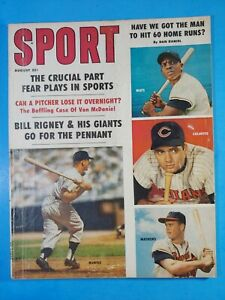 Sport Magazine August 1959 Mickey Mantle Willie Mays VG