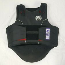 Justtogs Junior Horse Riding Protective Body Black Jacket Childrens Size L