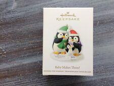 HALLMARK 2012 BABY MAKES THREE! PENGUINS FAMILY KEEPSAKE CHRISTMAS ORNAMENT
