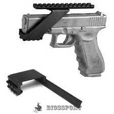 Universal Tactical Pistol Scope Mount Picatinny Weaver Flashlight Laser Rail NEW