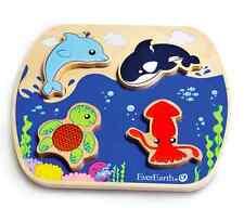 EverEarth EE33603 Wooden Ocean Puzzle NEW