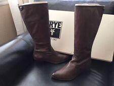 NEW FRYE RUBY TALL BACK ZIP BOOTS CHARCOAL SZ 6.5 $428