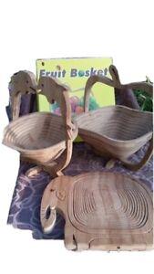 Thailand,Obstkorb,Faltkorb,Bambus Früchte Korb,Dekorations Korb