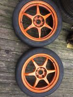 "2x 17"" BUDDYCLUB CIVIC TYPE R EP3 ALLOYS      WHEELS INTEGRA DC5 ACCORD TYPE S"