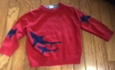 Boys Baby Gap Red Shark Intarsia Graphic Crew Sweater - Size 12-18 Months - EUC