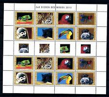 [ARV726] Aruba 2013 Jungle Animals Panter Parrot Frog Miniature Sheet MNH