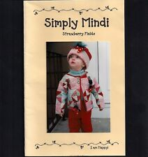 Childs Patchwork Quilted Sweatshirt Jacket Pattern Xmas Strawberry Trim All Size