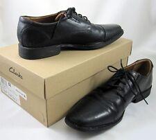 c0f77246a97 Clarks Mens Comfort Dress Shoes 10.5 M Black Leather Tie Tilden Toe Cap