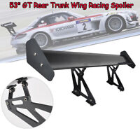 57.5Color De Fibra De Carbono Peso Ligero GT Rear Racing Wing Spoiler 3D Universal Automobile Tail Spoiler