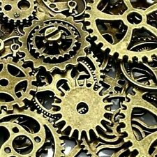BronaGrand 20pcs Mixed Antiqued Charms Clock Face Charm Pendant Jewelry Making Gears DIY Crafts Steampunk Pendants,3 Colors