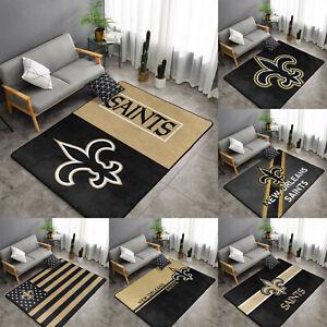 New Orleans Saints Rugs Anti-Skid Area Rug Living Room Bedroom Floor Mat Carpet