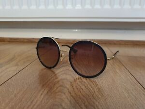 Gucci GG Women's Navy Round Sparkle Sunglasses - 0061S  RRP-£250