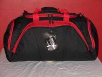 """A 24"""" Holdall Travel Bag With 2 Side Pockets Front Pocket Adjustable Strap."""