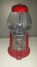 "Vtg 1985 RED CAROUSEL #01 JR GUM BALL Candy MACHINE 11 1/4"" Glass Globe & Metal"