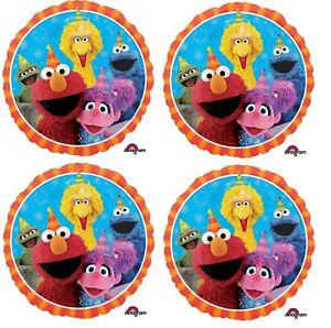 "4 x 18"" 123 Sesame Street Foil Mylar Balloon Party Supply Decoration"