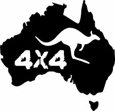 Australie autocollant Kangaroo Outback 13x13 cm terrain 4x4 off road trip Kangourou