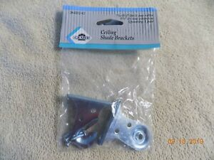 """1 pair GRABER ROLLER SHADE Heavy Duty 1 3/8"""" EXTENSION CEILING BRACKETS"""