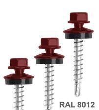 Trapezblech Schrauben RAL8012 Dach Bohrschrauben selbstbohrender 5,5x32mm 250st