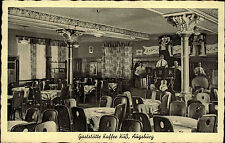 Augsburg Bayern AK ~19330/39 Inneres der Gaststätte Kaffee Kuß Gasthof Gasthaus