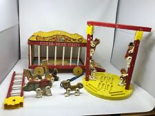 VINTAGE  Wooden Fisher Price Circus Wagon Train 1960's ~Set is not complete~