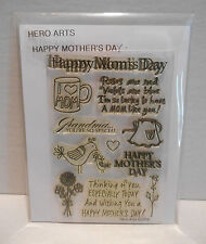 HERO ARTS Clear Stamps HAPPY MOM'S DAY # CL334 Mother Grandma Flowers
