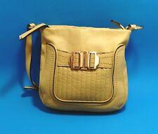 B. Makowsky Leather Handbag Buttercream Yellow Leather Crossbody Spring Purse