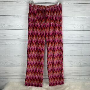Vera Bradley Womens Medium Pajama Lounge Pants Fleece Bohemian Chevron Retired