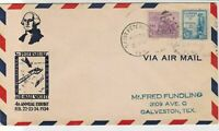 U.S. 1934 Airmail Society St Petersburg Annual Ex Illust Stamps Cover Ref 34534