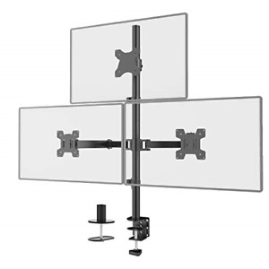 WALI Triple LCD Monitor Desk Mount Fully Adjustable Stand Fits Three Screens up