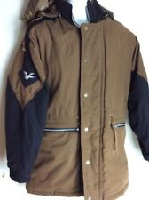 Vintage Triple Fat Goose Mens Duck Down Hooded Jacket Coat Winter Medium Brow