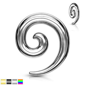 """8g-1//2/"""" NAIL BOLT SCREW STYLE STAINLESS STEEL EAR STRETCHING TAPERS PAIR"""