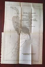 1899 Highland Bayou Texas Galveston Bay Map