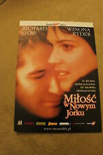 Autumn in New York (2000) Polish promo FLYER