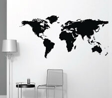 World Map Wall Sticker Home Quotes Inspirational Love MS039VC
